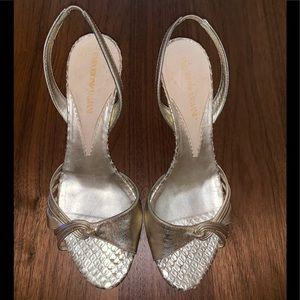 Emporio Armani Gold Sandals